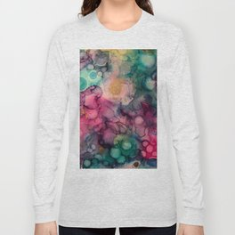 Abstract Pink Pattern Long Sleeve T-shirt