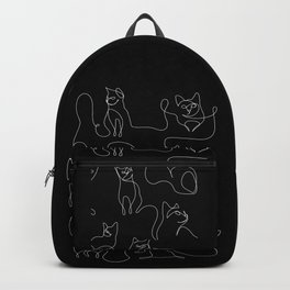 Cats in Black Backpack