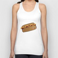 hot dog Tank Tops featuring Hot Dog by Tuesday Logan
