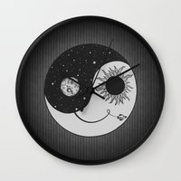 moonrise Wall Clocks featuring Moonrise by Daniac Design
