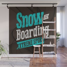 Snowboarding Extreme Sport Wall Mural
