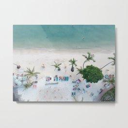 Aerial Koh Phangan Beach Metal Print