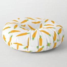 CARROT CARROTS VEGGIE FOOD PATTERN Floor Pillow
