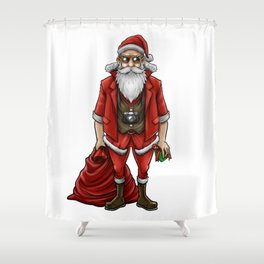 Hipster Santa Claus | Christmas Style Cool Fashion Shower Curtain