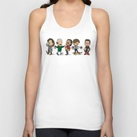 1d Tank Tops featuring Schulz 1D Coffee Run by Ashley R. Guillory
