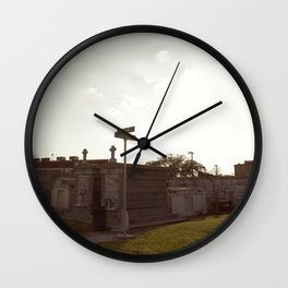 A Resting Place For Spirits Number 3 New Orleans 3 Cemetery Crossroads Wall Clock