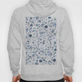 Watercolor florals in blue Hoody