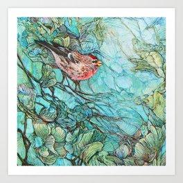 The Aquamarine Labyrinth (detail no. 1) Art Print