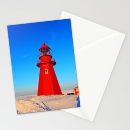 Lighthouse  and Frozen Sea Stationery Cards