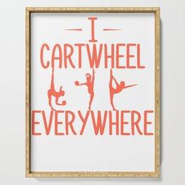 Gymnast I Cartwheel Everywhere Gymnastics Serving Tray