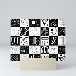 Kandinsky - Black and White Pattern - Abstract Art Mini Art Print