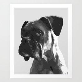 Boxer Graphic Art Print