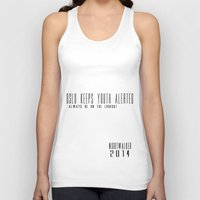 oslo Tank Tops featuring Oslo keeps youth alerted by Nightwalker