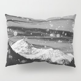 Mountains in Black and White Pillow Sham