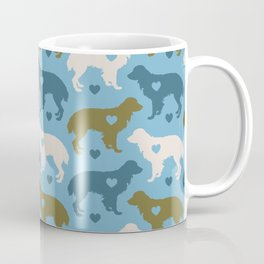 Valentine's dog surface pattern (green-blue) Coffee Mug