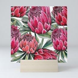 Protea watercolor Mini Art Print