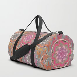 Hot Pink, Magenta and Orange Super Boho Medallions Duffle Bag