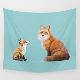 Fox Tenderness Wall Tapestry