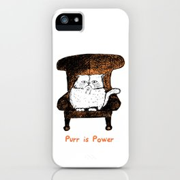 Purr is Power  (Orange) iPhone Case