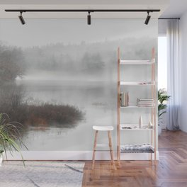 Foggy lake on a winter day - Nature Photography Wall Mural