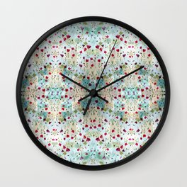 Flowering pattern Wall Clock