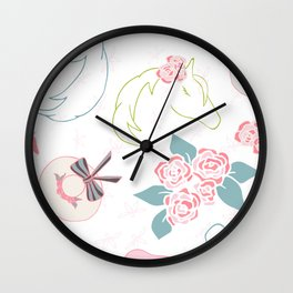 Pretty Horses off to The Races Wall Clock