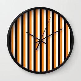 TEAM COLORS 4.....orange,black Wall Clock