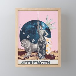 Strength Tarot Card Framed Mini Art Print