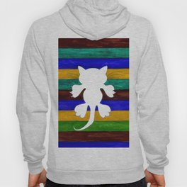 Stylized Cat Silhouette Hoody