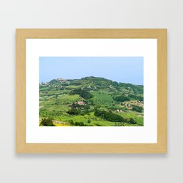 Tuscany Landscape with Hills Framed Art Print