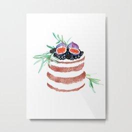 Fig Cake Metal Print