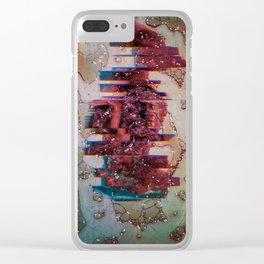 If time were an artifact of an ancient civilization Clear iPhone Case