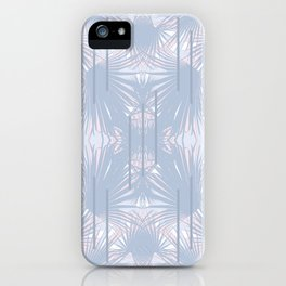 Tropical Art Deco Pattern - Pastel blue and pink iPhone Case