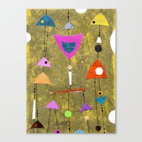 50s Canvas Prints featuring Retro Fantasy 50s by Beatrice Roberts