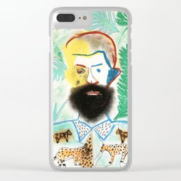 Jungle Man Clear iPhone Case
