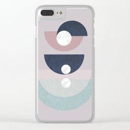 Simone - mid century géométrie Clear iPhone Case