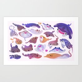 Ray day 1 - bright Art Print