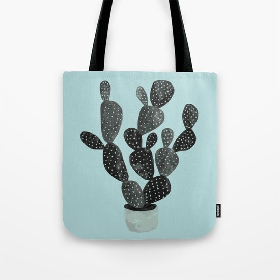 Monday blue cactus pricks Tote Bag