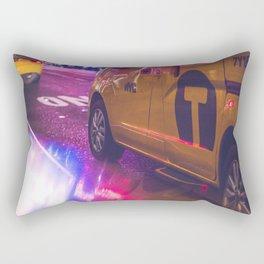 Taxi NYC Life (Color) Rectangular Pillow