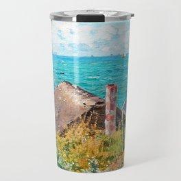 Claude Monet The Cabin At Saint-Adresse Travel Mug