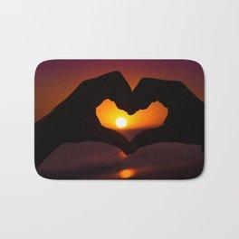 Heart shaped hands Bath Mat