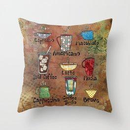 Coffees Make Me Happy Throw Pillow