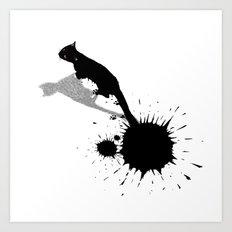 Inkcat2 Art Print