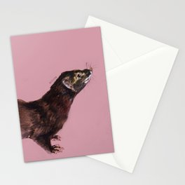 Save the european Mink !!! (FIEB) Realistic (c) 2017 Stationery Cards