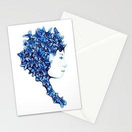 Blue Flower Girl Stationery Cards