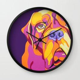 Psychedelic Pup- Bull Mastiff Pet Portrait Wall Clock