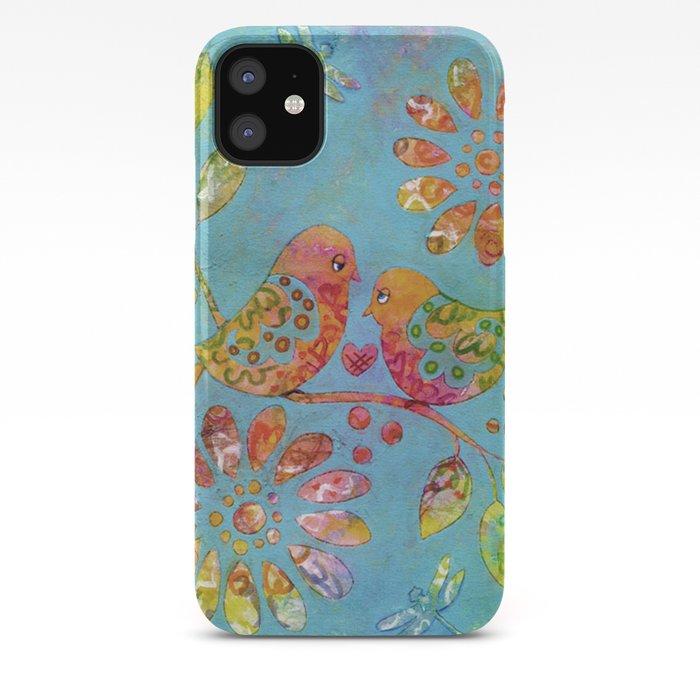 pattern love birds iPhone 11 case