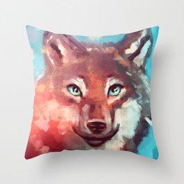 Wolf - Stare - Wanderlust Throw Pillow