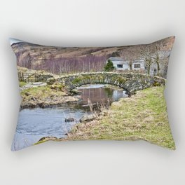 Packhorse Bridge at Watendlath Rectangular Pillow
