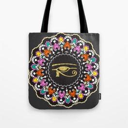 Eye of Horus Mandala Tote Bag